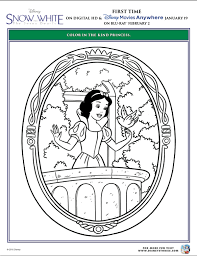mirror mirror wall free snow white coloring pages