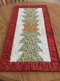 gold star table runner quilted christmas tree gold star table runner by countrysewing4u