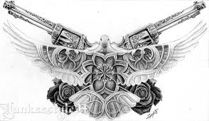 white dove tattoo with guns n roses by yankeestyle94 on deviantart