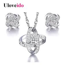 jewelry sets 5 uloveido silver color jewelry sets decorations