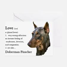 doberman greeting cards cafepress