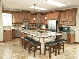 ideas for kitchen islands with seating kitchen island with seating on 2 sides search lake