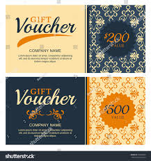 Salon Invitation Card Royalty Free Vector Gift Voucher With Vintage U2026 330060800 Stock
