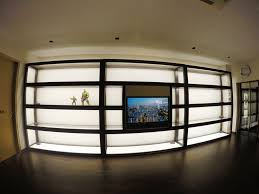 Display Cabinet With Lighting Giant Premium Glass Wood Display Cabinet By Chezrich Interior