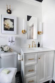 Gold Bathroom Fixtures Bathroom Storage Features Hunted Interior Black White
