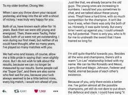 lin dan u0027s letter to dato u0027 lee chong wei is bogus news rojak daily