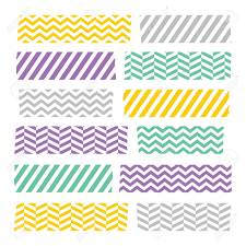 Washi Tape Designs by Set Of Colorful Patterned Washi Tape Stripes Royalty Free Cliparts