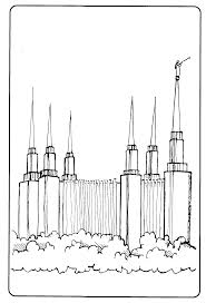 tithing coloring page mormon share temple