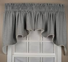 landis mini check lined duchess swags valance window curtain