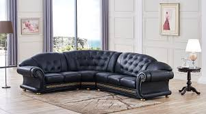 black sectional sofa bed versachi sectional sofa black esf furniture modern manhattan