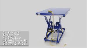 Hydraulic Scissor Lift Table by Electric Hydraulic Scissor Lift Table Ehlt 4872 3 55 Youtube