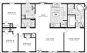 4 Bedroom Floor Plans For A House Jacobsen Tnr 45210w 32 U0027 X 52 U0027 1595 Sq Ft 4 Bedrooms And You
