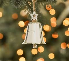 silver bell ornament pottery barn
