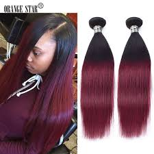 ombre hair weave african american 1b burgundy two tone ombre indian hair extensions 4 bundles dark