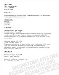 7 financial advisor resumes financial statement form