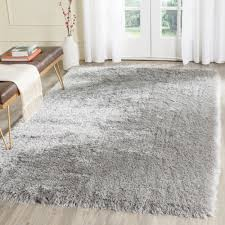 Safavieh Rugs Overstock by Safavieh Hudson Ogee Shag Grey Background And Ivory Rug 5 U00271 X 7 U00276