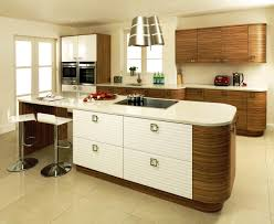 the stylish high gloss white kitchen cabinets