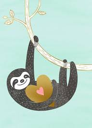 sloth valentines day card hangin with you s day card sweet messages sloth
