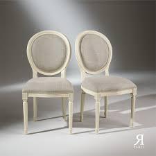 chaises medaillon 2 chaises médaillon blanches