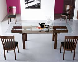 glass dining room table and chairs 71 most wonderful rectangular glass dining table room set