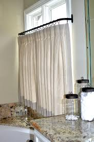 Plastic Cafe Curtains Thinking Of Doing A Half Tiered Curtain In Living Room Like The