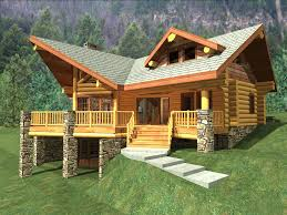 cabin style home plans vacation house plan home hillside plans vintage log 1 story floor