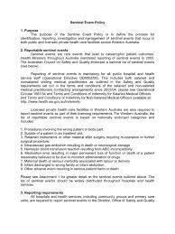 Health Care Services Australia Health Sentinel Event Policy Patient Health Care