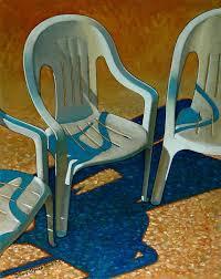 Plastic Patio Chairs Plastic Patio Chairs Painting By Doug Strickland
