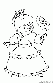 coloring page the angel