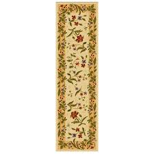 Beige Runner Rug Shop Mohawk Home Summer Flowers Beige Beige Rectangular Indoor
