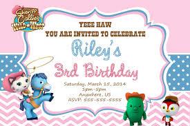 art birthday invitations sheriff callie birthday invitations marialonghi com