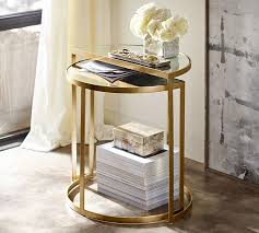 Brass Accent Table Alistar Nesting Side Tables Set Of 2 Pottery Barn