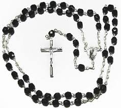 black silver rosary necklace images Silver rosary beads sterling silver rosary necklace look a like jpg