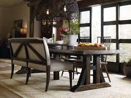 hooker furniture dining room roslyn county trestle dining table w