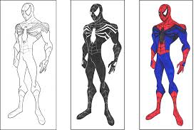 spiderman coloring pages kids spiderman venom coloring