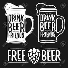 beer vector set of beer typography vintage prints quotes about beer free