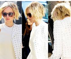 growing out a bob hairstyles jennifer lawrence s pixie is now a bob