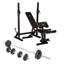 weight and bench set adidas essential weight bench and viavito 50kg cast iron weight