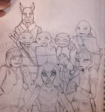 new years hamato clan and friends sketch by turtlechix on deviantart