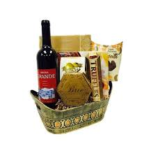 wine and gift baskets argentina wine gift basket by pompei baskets