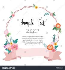 Borders For Wedding Invitation Cards Vector Illustration Beautiful Floral Border Rose Stock Vector