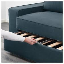 Two Seater Futon Sofa Bed by Vilasund Two Seat Sofa Bed Hillared Dark Blue Ikea