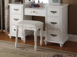 Folding Vanity Table Bedroom Fancy 00 Torian White Vanity Set With Tri Fold Mirror