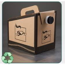 Box Coffee 96 oz to go coffee to go bag bladder corrugated cardboard box