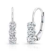 diamonds earrings white gold 3 diamond earrings