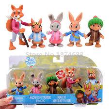 rabbit and benjamin bunny new rabbit mini figure adventure set 5pcs rabbit