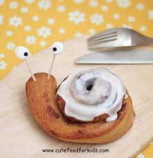 the rolls cute food for kids cute breakfast idea cinnamon roll snails