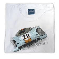 gulf porsche 917 retro classic gulf porsche 917 ladies t shirt