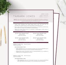 Resume Dates by Plum Resume Cover Letter U0026 References Template Package U2013 Janna Hagan