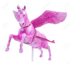 pink perseus horse statue isolated stock photo picture and